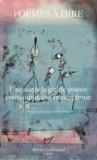 Zéno Bianu - Poèmes à dire - Une anthologie de poésie contemporaine francophone.