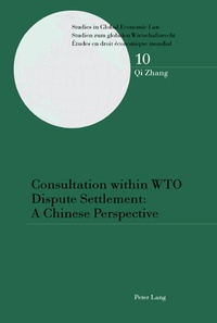 Zhang Qi - Consultation within WTO Dispute Settlement: A Chinese Perspective - A Chinese Perspective.