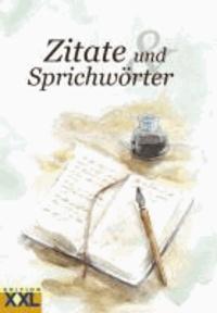 Zitate und Sprichwörter in Großschrift.