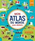 ZNU - Mon atlas du monde avec stickers - Avec plus de 300 stickers repositionnables.