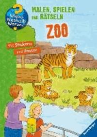 Zoo - Malen, spielen und rätseln.